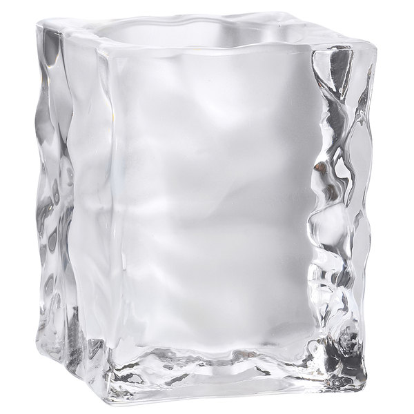 """Sterno Products 80140 4"""" Frosted Ice Cube Liquid Candle Holder"""
