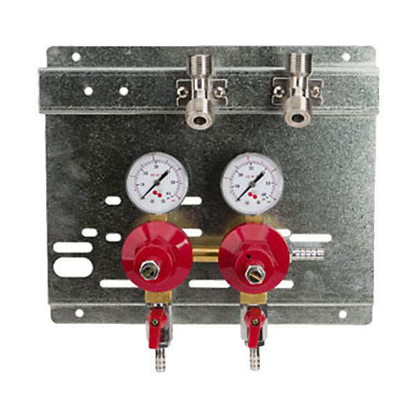 Micro Matic 8221 Double Gauge (60 PSI) Secondary CO2 Regulator Panel Main Image 1