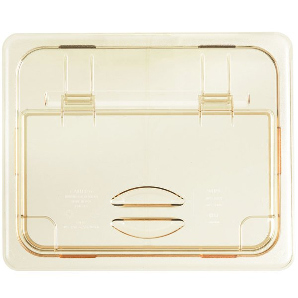 Cambro 20HPL150 H-Pan™ 1/2 Size Amber High Heat FlipLid