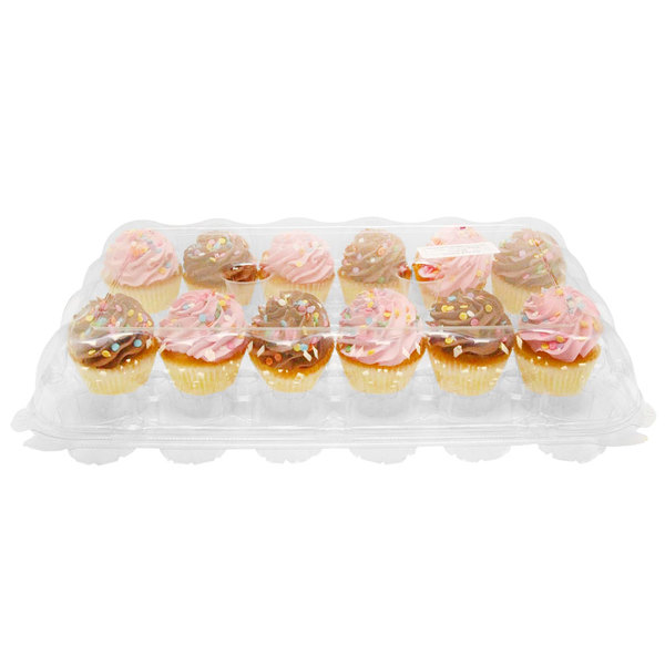 24 Compartment Clear High Dome Cupcake Container - 50/Case Main Image 4