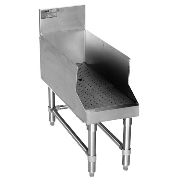 """Eagle Group RDBSR30-24 Spec-Bar Stainless Steel Recessed Bar Drainboard - 30"""" x 29"""""""