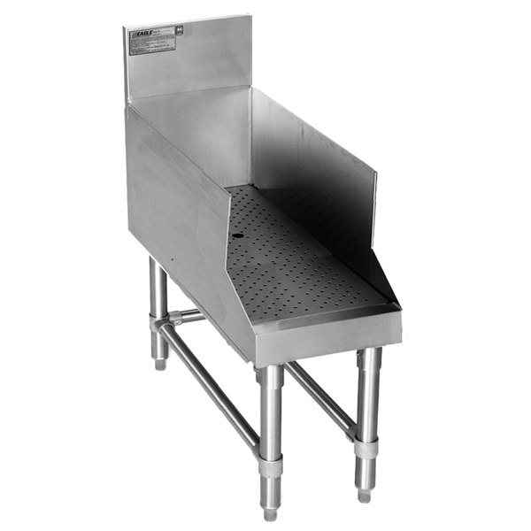 """Eagle Group RDBSR24-24 Spec-Bar Stainless Steel Recessed Bar Drainboard - 24"""" x 29"""""""