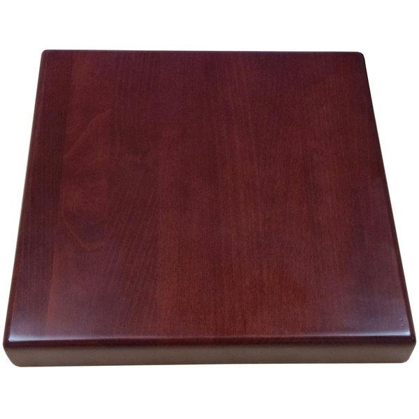 "American Tables & Seating UV3030-50 DM 30"" x 30"" Square Table Top - Dark Mahogany Main Image 1"