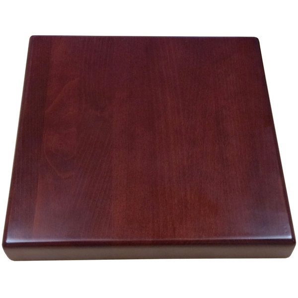 "American Tables & Seating UV3636-50 DM 36"" x 36"" Square Table Top - Dark Mahogany"