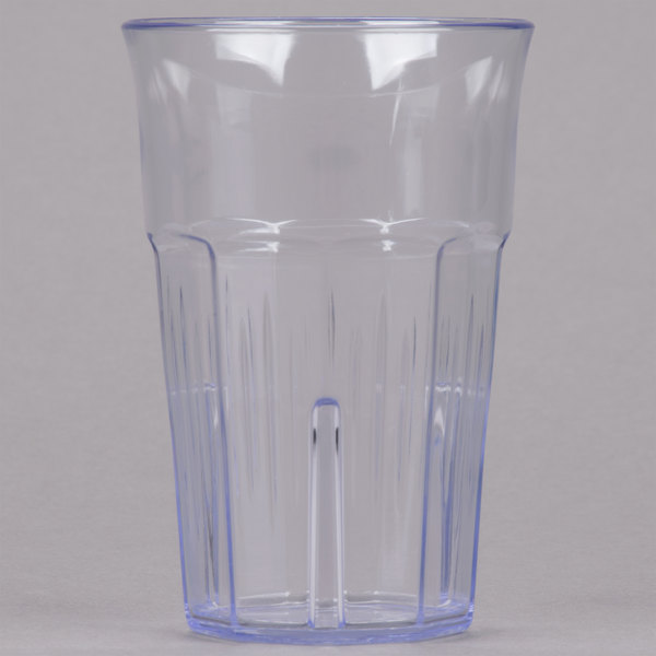 Carlisle 4364807 Lorraine 8 oz. Clear SAN Plastic Tumbler - 12/Case