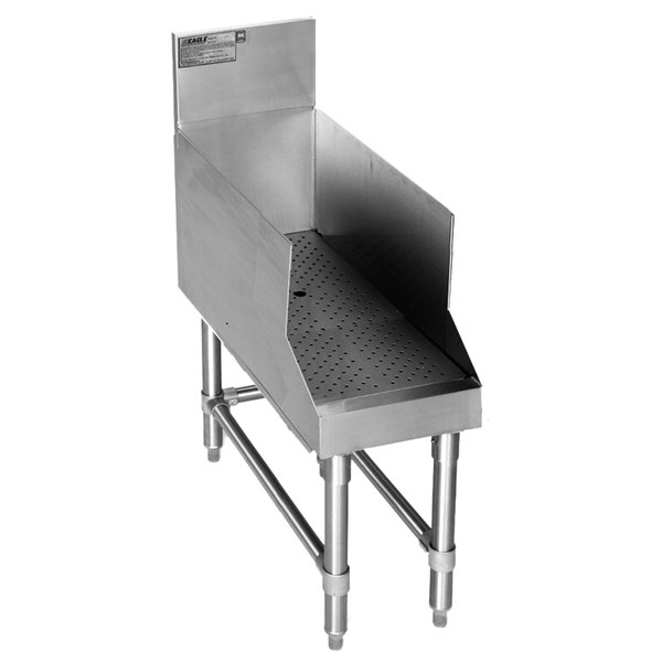 """Eagle Group RDBSR12-24 Spec-Bar Stainless Steel Recessed Bar Drainboard - 12"""" x 29"""""""