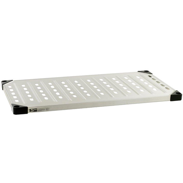 """Metro 2460HLS HD Super Solid Stainless Steel Louvered / Embossed Shelf - 24"""" x 60"""""""