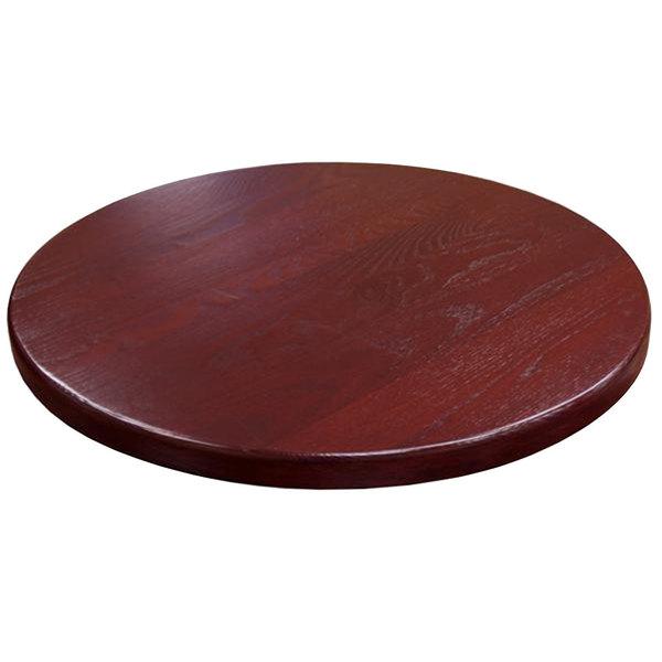 "American Tables & Seating UV24-50 DM 24"" Round Table Top - Dark Mahogany"