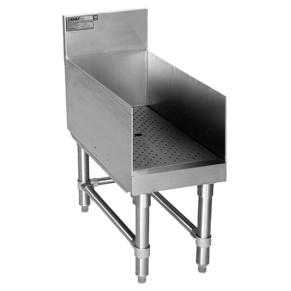 """Eagle Group RDB36-24 Spec-Bar Stainless Steel Recessed Bar Drainboard - 36"""" x 24"""""""
