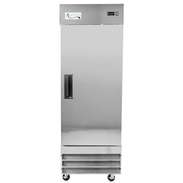 """Avantco A-23R-HC 29"""" Solid Door Reach-In Refrigerator Main Image 1"""