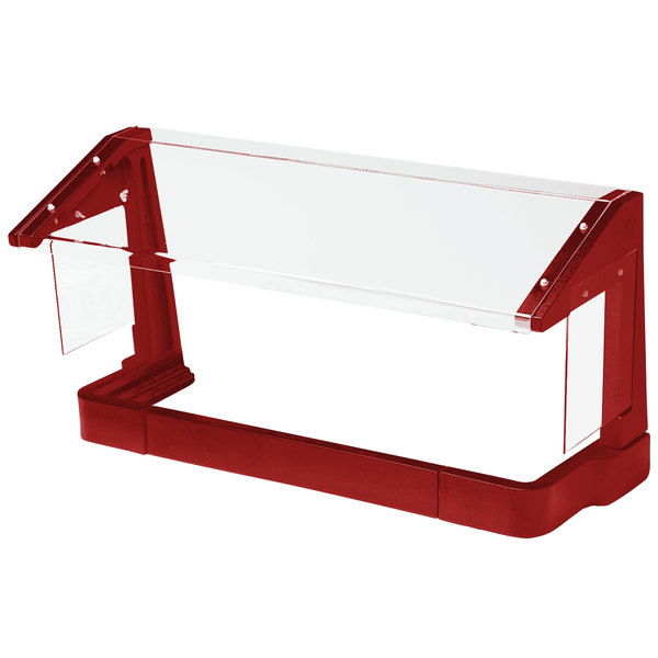 Cambro FSG720158 6' Red Free-Standing Sneeze Guard