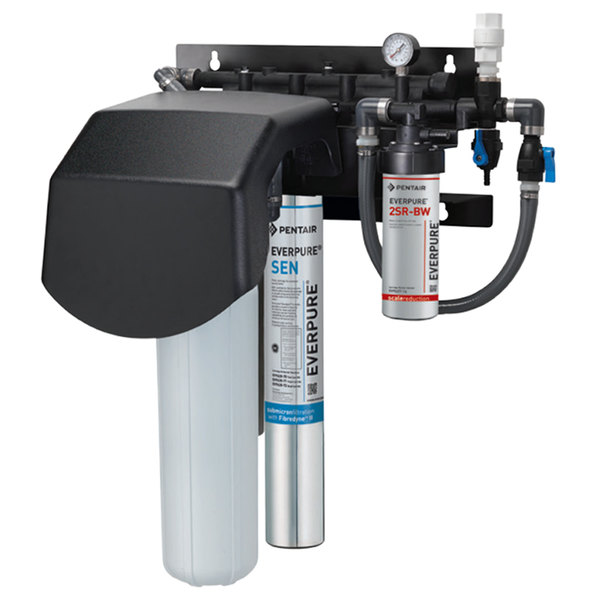 Everpure EV9437-30 Endurance High Flow Twin Water Filtration System with Pre-Filter and Scale Reduction - .2 Micron and 7.5 GPM Main Image 1