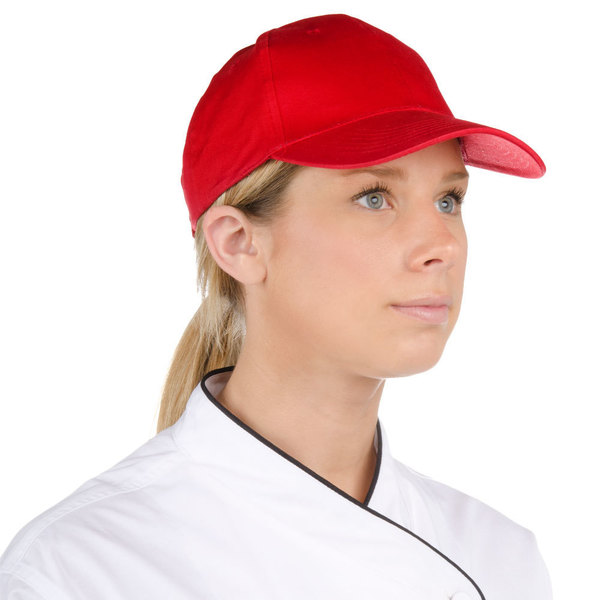 Choice Red 6-Panel Chef Cap Main Image 1