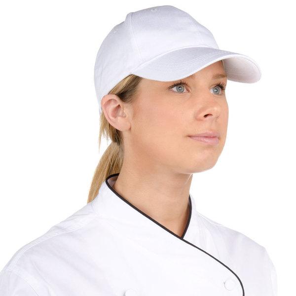 Choice White 6-Panel Chef Cap Main Image 1