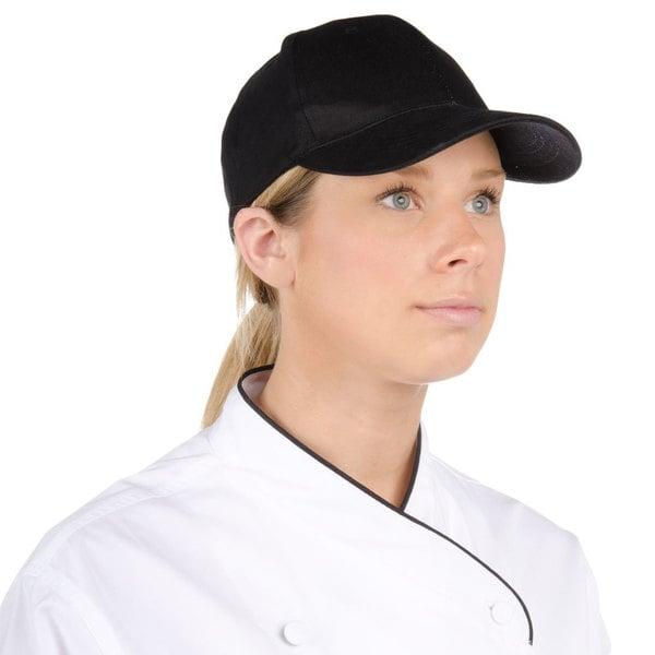 Choice Black 6-Panel Chef Cap Main Image 1
