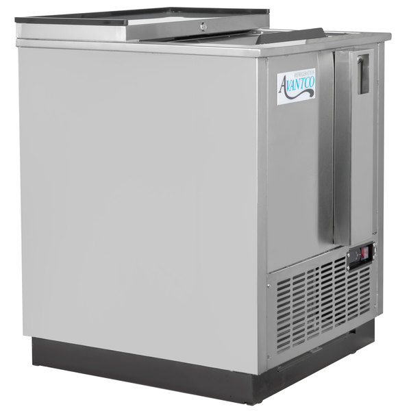 "Avantco HBB-25-HC-S 25"" Stainless Steel Horizontal Bottle Cooler Main Image 1"
