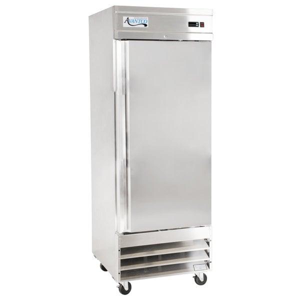 """Avantco SS-1F-HC 29"""" Stainless Steel Solid Door Reach-In Freezer Main Image 1"""