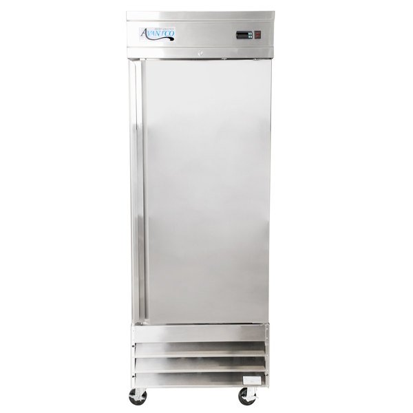 """Avantco SS-1F-HC 29"""" Solid Door Reach-In Freezer Main Image 1"""