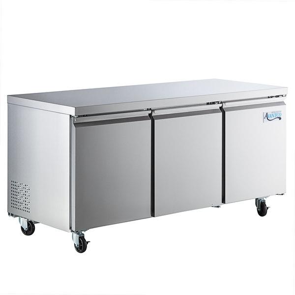 Avantco SS-UC-72R-HC 72 inch Undercounter Refrigerator