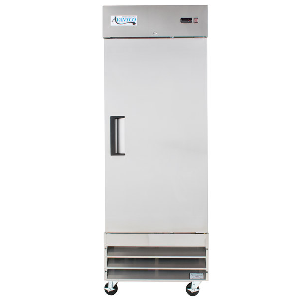 "Avantco A-19R-HC 29"" Solid Door Reach-In Refrigerator Main Image 1"