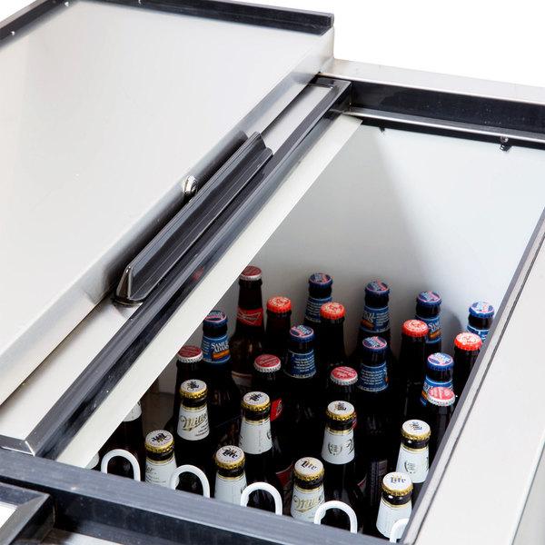 "Avantco HBB-65-HC 65"" Black Horizontal Bottle Cooler"