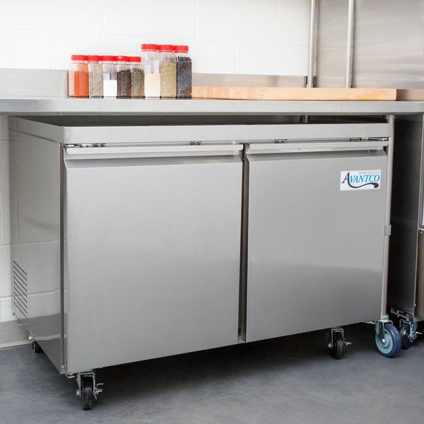 "Avantco SS-UC-48F-HC 48"" Undercounter Freezer"