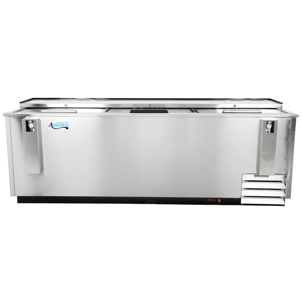 Avantco HBB-95-HC-S 95 inch Stainless Steel Horizontal Bottle Cooler