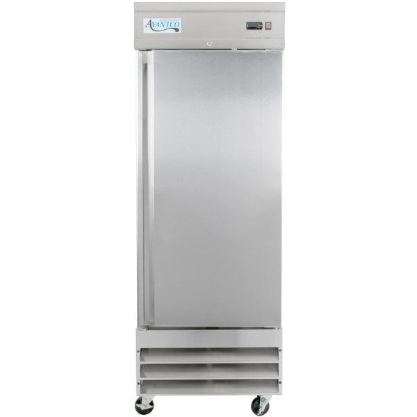 Avantco SS-1R-HC 29 inch Solid Door Reach-In Refrigerator