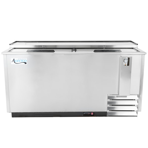 "Avantco HBB-65-HC-S 65"" Stainless Steel Horizontal Bottle Cooler"