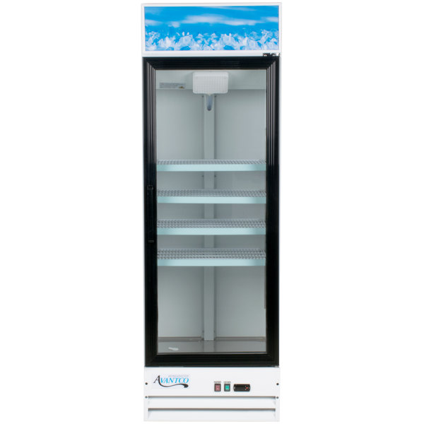 Avantco GDC-15-HC 25 5/8 inch White Swing Glass Door Merchandiser Refrigerator with LED Lighting
