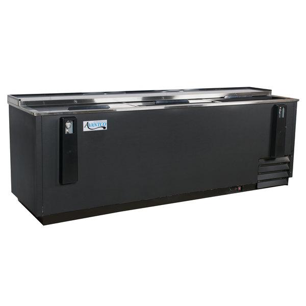 "Avantco HBB-95-HC 95"" Black Horizontal Bottle Cooler Main Image 1"