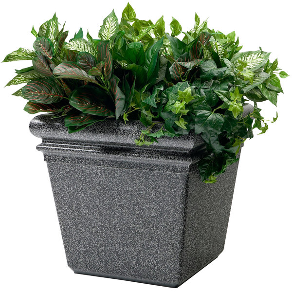 "Commercial Zone 724019 StoneTec 18"" x 18"" Pepperstone Planter"