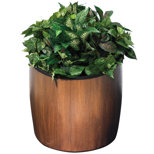 "Commercial Zone 756341 Garden Series 21"" x 23"" Walnut Elmwood Planter"