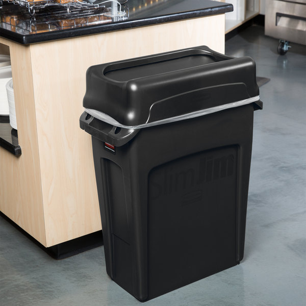 locking trash black round swing kitchen bathroom with garbage lid cans can lids small