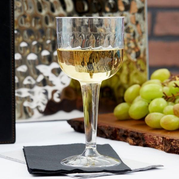Fineline Flairware 2209 8 oz. Clear 1 Piece Plastic Wine Goblet - 96/Case