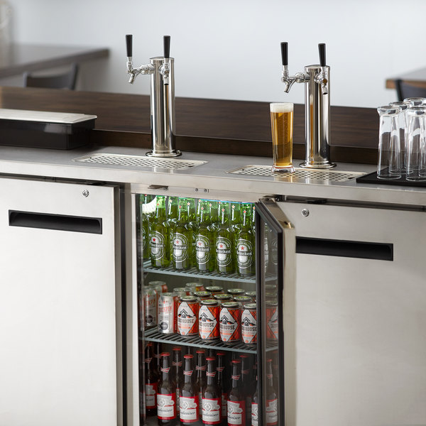 Avantco UDD-72-HC-S (2) Double Tap Kegerator Beer Dispenser - Stainless Steel, (3) 1/2 Keg Capacity Main Image 8