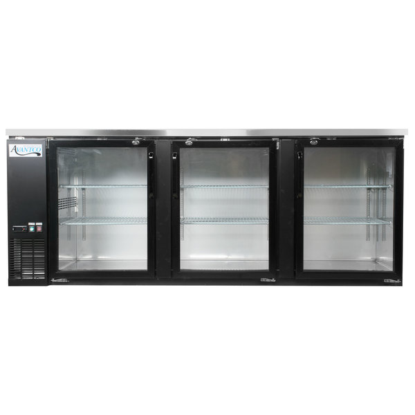 avantco ubb 4g hc 90 black counter height glass door back bar refrigerator with led lighting - Refridgerator Glass Door