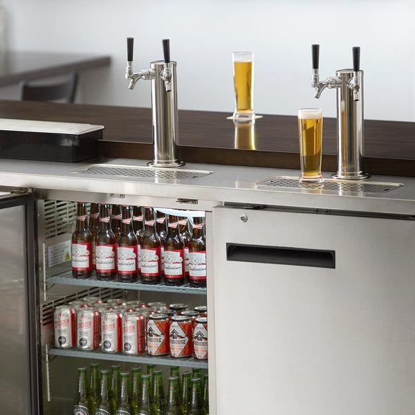 Avantco UDD-60-HC-S (2) Double Tap Kegerator Beer Dispenser - Stainless Steel, (2) 1/2 Keg Capacity Main Image 8