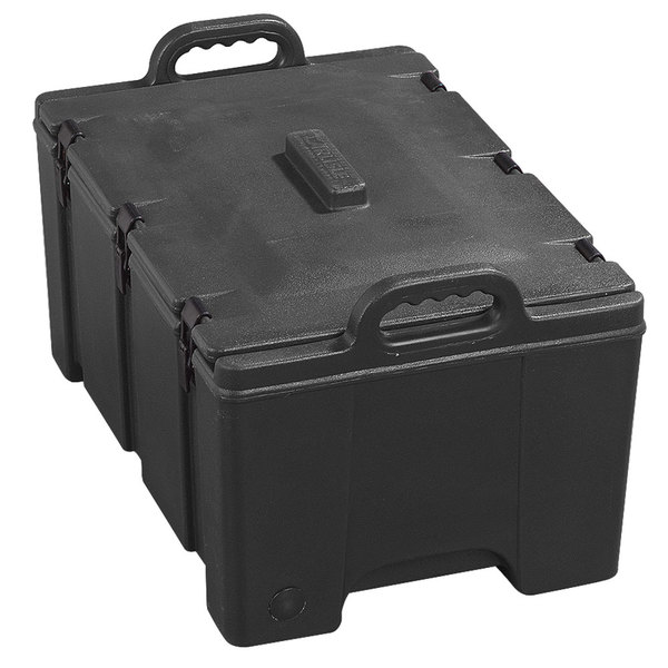 """Carlisle Cateraide PC180N03 8"""" Deep Black Top Loading Insulated Food Pan Carrier"""