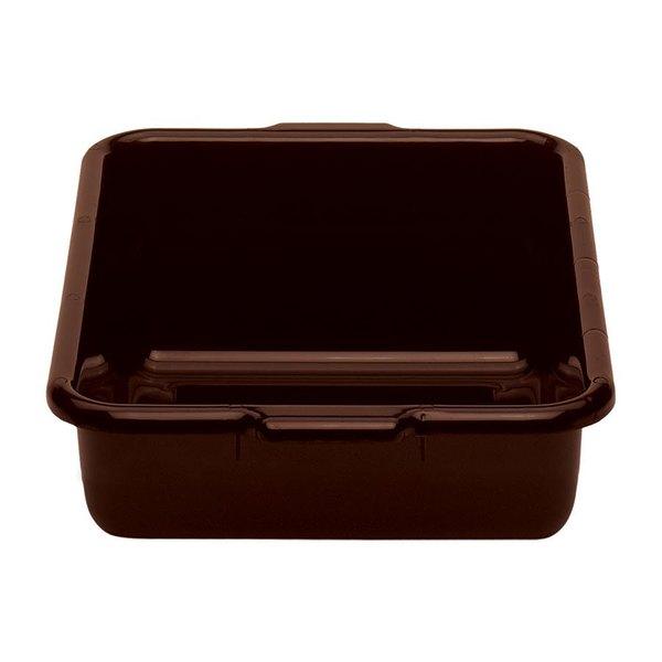 """Cambro 1722CBR131 Regal Cambox 22"""" x 17"""" x 5"""" Dark Brown Plastic Bus Box"""