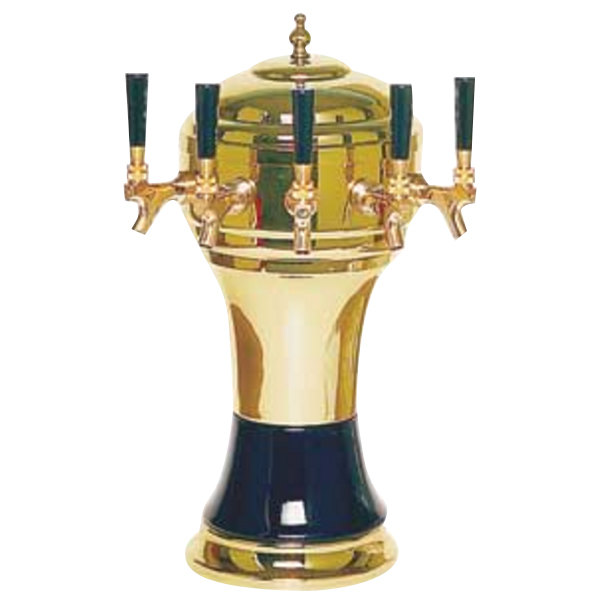 Micro Matic CT902-5BR Zeus Brass Black Air Cooled 5 Tap Tower
