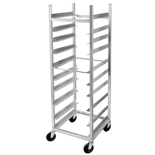 "Channel AXD-GRR-6 10 Shelf Glass Rack Cart with 6"" Spacing"