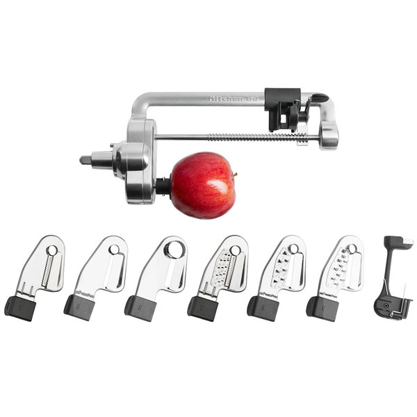 KitchenAid KSM2APC Spiralizer Plus Attachment with Peel, Core, and Slice Blades