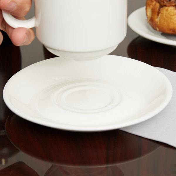 Arcoroc G3751 Daring Porcelain Saucer for G3745 Porcelain Cup by Arc Cardinal - 24/Case