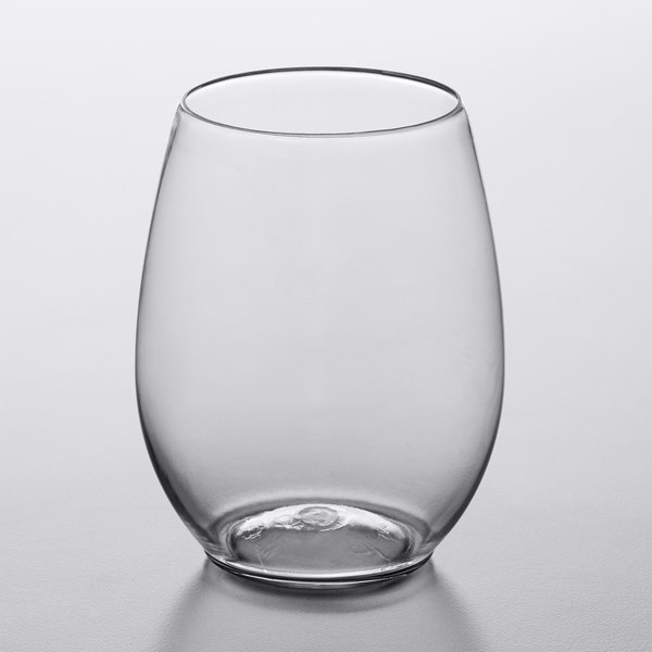 Visions 12 Oz Clear Plastic Stemless Wine Gl 64 Case
