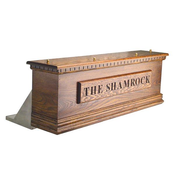 Micro Matic CFD12AKR 12 Tap Kool-Rite Glycol Cooled Irish Coffin Box - Dark Oak Main Image 1