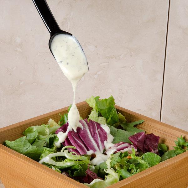 Carlisle 445003 .25 oz. Black Solid Salad / Salad Bar / Buffet Spoon