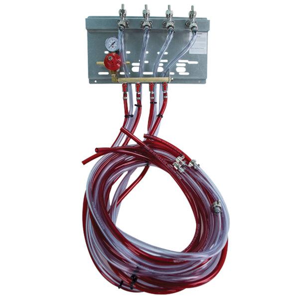 Micro Matic 83315-EAM Single Gauge (60 PSI) Triple Keg Secondary CO2 Regulator Panel