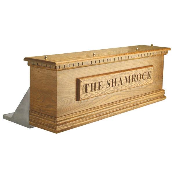 Micro Matic CFN06A 6 Tap Air Cooled Irish Coffin Box - Natural Oak