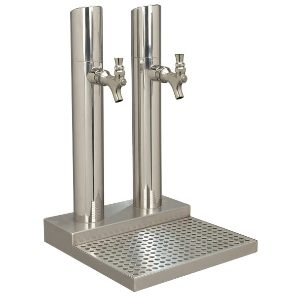 Micro Matic BS-SKY-2PSSKR-LR Skyline Stainless Steel Kool-Rite Glycol Cooled 2 Tower, 2 Tap Station